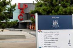 Lincoln, het Verenigd Koninkrijk - 07/21/2018: LPAC op Universit royalty-vrije stock foto