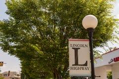 Lincoln Highway Banner Stockbilder