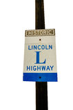 Lincoln Highway Sign Stock Images