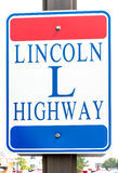 Lincoln Highway sign Stock Photos