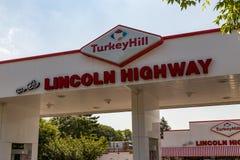 Lincoln Highway Turkey Hill Lizenzfreies Stockbild