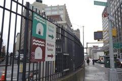 Lincoln i Holandia tunelu znak Zdjęcia Stock