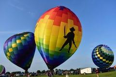 Lincoln, Illinois - los E.E.U.U. - 25 de agosto de 2017: Lanzamiento de los globos Imágenes de archivo libres de regalías