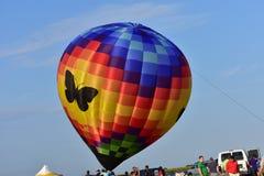 Lincoln, Illinois Sierpień 25, 2017: - usa - Motyli Lotniczy balon Obrazy Stock