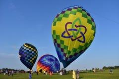 Lincoln, Illinois Sierpień 25, 2017: - usa - Motyli Lotniczy balon Obrazy Royalty Free