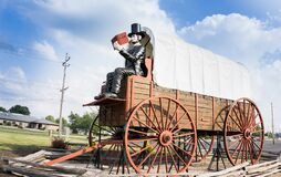 Lincoln, Illinois: World`s Largest Wagon And Big Abraham Lincoln Royalty Free Stock Photography