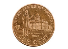 Lincoln Indiana Legislature Penny Royalty-vrije Stock Foto