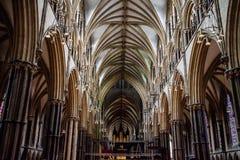 Lincoln katedry wnętrze zdjęcia royalty free