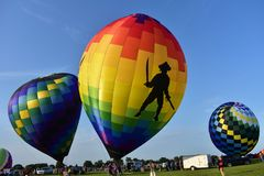 Lincoln, l'Illinois - Etats-Unis - 25 août 2017 : Lancement de ballons Images libres de droits