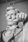 Lincoln, The Legacy of a President. Washington DC Royalty Free Stock Photo