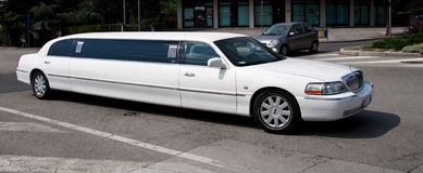 Lincoln-Limousine Stockfotos
