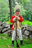 Lincoln, MA: British Redcoat Soldier at Hartwell Tavern Stock Images