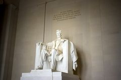 The Lincoln Memorial. In Washington, DC royalty free stock photos