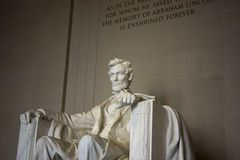 Lincoln Memorial. Horizontal portrait of the Lincoln Memorial in Washington, D.C. (USA royalty free stock photo