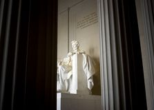 Lincoln Memorial. View of the Lincoln Memorial between pillars, located in Washington, D.C. (USA stock photos