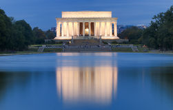 Lincoln Memorial. With Lake Reflection Stock Image