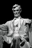 Lincoln Memorial. Black and White view of the Lincoln's statue Royalty Free Stock Images