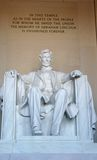 Lincoln Memorial. Memorial to President Abraham Lincoln, located in Washington, D.C. (USA royalty free stock photo