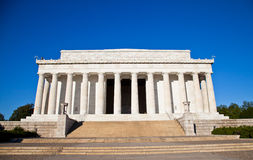 The Lincoln Memorial. View  of the Lincoln Memorial with blue sky Stock Photos