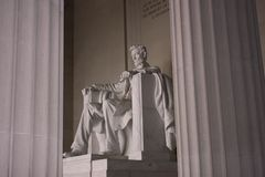 Lincoln Memorial. Inside view of the Lincoln Memorial between the pillars, located in Washington, D.C. (USA Stock Images