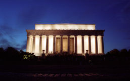 Lincoln Memorial. The Lincoln Memorial in Washington DC at dusk royalty free stock photography