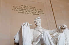 Lincoln Memorial. The Lincoln Memorial in Washington, DC, USA Stock Photo