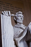 Lincoln Memorial. An angled shot of Abraham Lincoln in Washington, DC Royalty Free Stock Photos