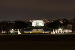 Lincoln Memorial alla notte Fotografie Stock