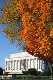 Lincoln memorial in autumn Stock Photos