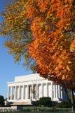 Lincoln memorial in autumn Stock Photos