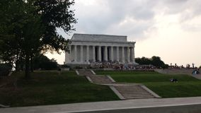 Lincoln Memorial. So beautiful but so many steps.... it was all worth it though royalty free stock photos