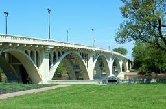 Lincoln Memorial Bridge In Vincennes, DEDANS Photos stock