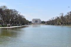 Lincoln Memorial célèbre sur Lincoln Memorial Reflecting Pool aux Etats-Unis photos libres de droits