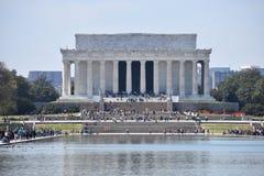 Lincoln Memorial célèbre sur Lincoln Memorial Reflecting Pool aux Etats-Unis photo libre de droits