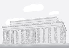 Lincoln Memorial Center Royalty Free Stock Image