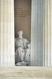 Lincoln Memorial close-up, Washington DC USA Stock Image