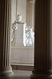 Lincoln Memorial close-up, Washington DC USA Stock Photo