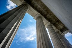 Lincoln Memorial Columns stockfotos
