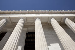 Lincoln memorial columns Royalty Free Stock Images