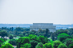 Lincoln memorial, elevated view Royalty Free Stock Image