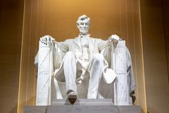Lincoln Memorial en la noche fotografía de archivo libre de regalías