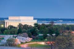 Lincoln Memorial en la noche Fotos de archivo libres de regalías