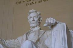 Lincoln Memorial eraan herinneren, die dat alle mensen vrij zouden moeten zijn royalty-vrije stock foto