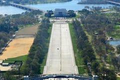 Lincoln Memorial från Washington Monumnet Royaltyfria Foton