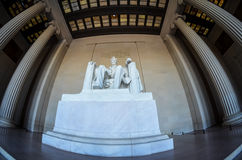 Lincoln Memorial front view of interior Royalty Free Stock Photos