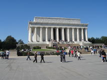 Lincoln Memorial Hall. In Washington D.C Stock Photos