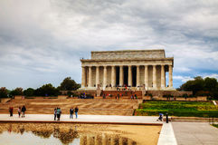 Lincoln Memorial i Washington, DC i morgonen Arkivfoto