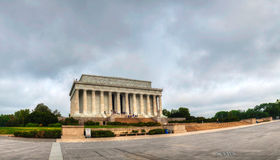 Lincoln Memorial i Washington, DC i morgonen Arkivbilder