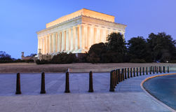 Lincoln Memorial Illuminated Washington DC Arkivfoton