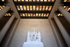 Lincoln Memorial Innenweitwinkel Stockbild